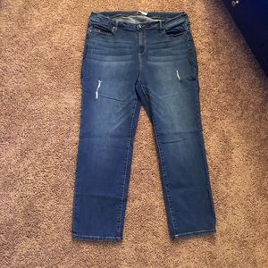 Like New Sexy Distressed Boyfriend Jeans 20W